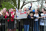 Picture by David Horn/eXtreme Aperture Photography +44 7545 970036<br /> 03/04/2014<br /> One Direction (1D) Fans wait for a glimse of the band as they film their latest video at Cardington Hangers at Cardington, Bedford, United Kingdom.