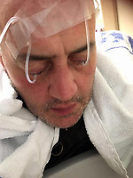 "COPY BY TOM BEDFORD<br /> Pictured: David Evans receiving treatment in hospital<br /> Re: Chef Kamrul Islam who attacked a client with chilli powder is due to appear before Merthyr Tydfil Magistrates Court.<br /> David Evans was at the Prince of Bengal restaurant on Saturday night when the incident took place.<br /> The 46-year-old was out for dinner with his wife Michelle when they were asked by a waiter if they were enjoying their curry.<br /> The couple said they told the waiter their meal was ""tough and rubbery"" and he passed the complaint onto the head chef.<br /> Michelle said chilli powder was then thrown into her husband's eyes and he was taken to hospital."