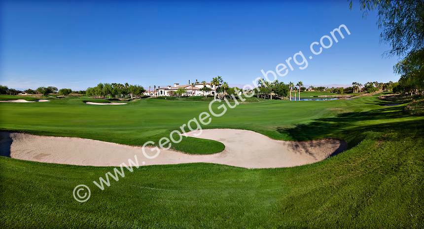 Sand trap on The Hideaway Club golf course