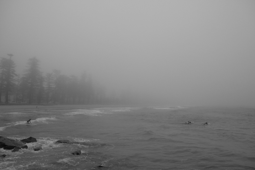 Fog at Manly Beach NSW AU