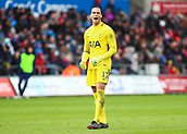 17th March 2018, Liberty Stadium, Swansea, Wales; FA Cup football, quarter-final, Swansea City versus Tottenham Hotspur; Michel Vorm of Tottenham Hotspur celebrates as his side score their 3rd goal of the game