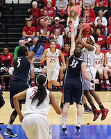 STANFORD, CA - March 30, 2014: Stanford Cardinal's Jasmine Camp during Stanford's 82-57 victory over Penn State in the third round of the 2014 NCAA Women's Basketball Tournament at Maples Pavilion.