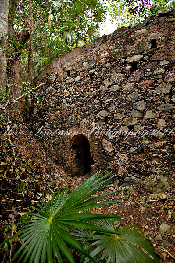 Josie Gut Ruins along the Reef Bay Trail<br /> Virgin Islands National Park<br /> St. John, U.S. Virgin Islands