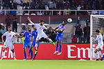 Pronay Halder of India (R) fights for the ball with Waleed Mohamed Alhayam of Bahrain (L) during the AFC Asian Cup UAE 2019 Group A match between India (IND) and Bahrain (BHR) at Sharjah Stadium on 14 January 2019 in Sharjah, United Arab Emirates. Photo by Marcio Rodrigo Machado / Power Sport Images