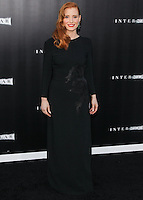 HOLLYWOOD, LOS ANGELES, CA, USA - OCTOBER 26: Jessica Chastain arrives at the Los Angeles Premiere Of Paramount Pictures' 'Interstellar' held at the TCL Chinese Theatre on October 26, 2014 in Hollywood, Los Angeles, California, United States. (Photo by Celebrity Monitor)