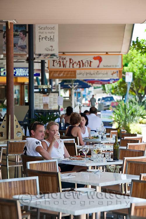 Diners at Villa Romana Trattoria.  Esplanade, Cairns, Queensland, Australia