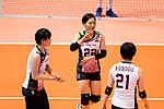 Kanami Tashiro of Japan (C) gestures during the FIVB Volleyball Nations League Hong Kong match between Japan and Italy on May 29, 2018 in Hong Kong, Hong Kong. Photo by Marcio Rodrigo Machado / Power Sport Images