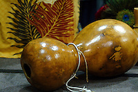 Ipu heke, or double gourd, used for rhythmic percussion during hula and chanting.