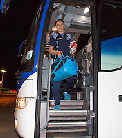 Luke O'Nien of Wycombe Wanderers arrives ahead of the Sky Bet League 2 match between Colchester United and Wycombe Wanderers at the Weston Homes Community Stadium, Colchester, England on 21 February 2017. Photo by Andy Rowland / PRiME Media Images.