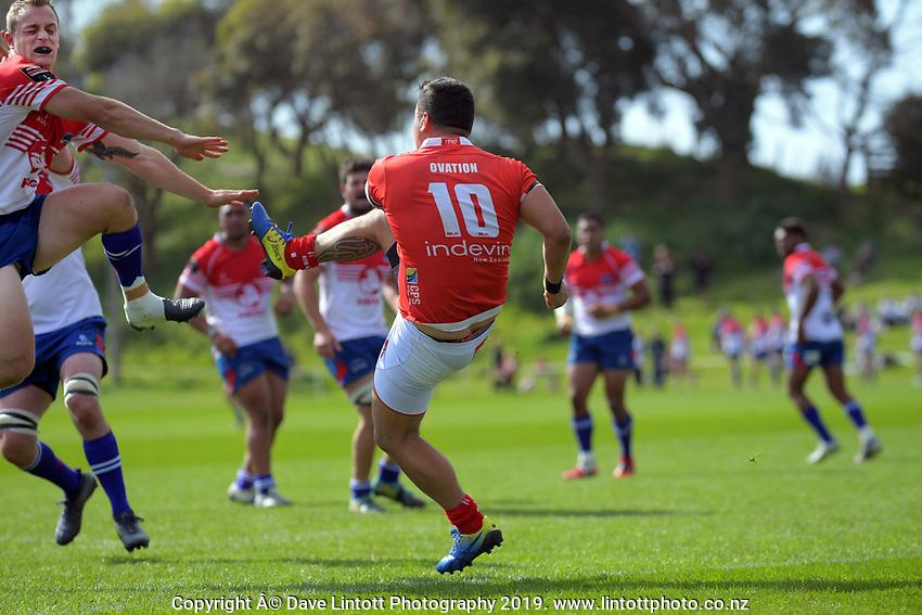 Action from the 2019 Heartland Championship  rugby match between Horowhenua Kapiti and Poverty Bay at Waikanae Domain in Waikanae, New Zealand on Saturday, 28 September 2019. Photo: Dave Lintott / lintottphoto.co.nz