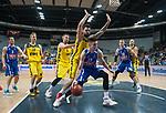 18.12.2019, EWE Arena, Oldenburg, GER, EuroCup 7Days, EWE Baskets Oldenburg vs Buducnost VOLI Podgorica, im Bild<br /> Aleksa ILIC (Buducnost VOLI Podgorica #13 ) Marcel KESSEN (EWE Baskets Oldenburg #15 ) Rasid MAHALBASIC (EWE Baskets Oldenburg #24 ) <br /> Foto © nordphoto / Rojahn