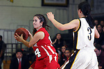 Palos Verdes, CA January 19, 2010 - Emmy Kolanz (14) and Stephanie Wong (3) in action during the Palos Verdes vs Peninsula Panthers basketball game at Peninsula High School.