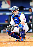2 March 2010: New York Mets' catcher Chris Coste looks back to the dugout during a game against the Atlanta Braves during the Opening Day of Grapefruit League play at Tradition Field in Port St. Lucie, Florida. The Mets defeated the Braves 4-2 in Spring Training action. Mandatory Credit: Ed Wolfstein Photo