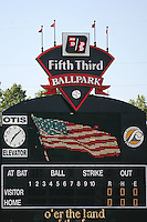 June 14th 2008:  Scoreboard for the West Michigan Whitecaps, Class-A affiliate of the Detroit Tigers, at Fifth Third Ballpark in Comstock Park, MI.  Photo by:  Mike Janes/Four Seam Images
