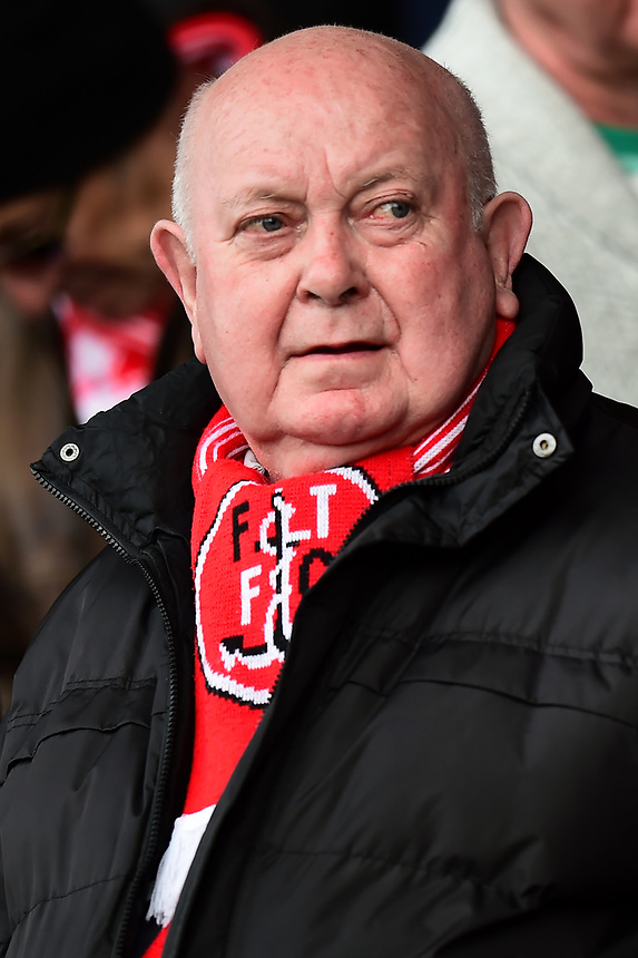 A Fleetwood fan looks on<br /> <br /> Photographer Richard Martin-Roberts/CameraSport<br /> <br /> The EFL Sky Bet League One - Fleetwood Town v Port Vale - Sunday 30th April 2017 - Highbury Stadium - Fleetwood<br /> <br /> World Copyright &copy; 2017 CameraSport. All rights reserved. 43 Linden Ave. Countesthorpe. Leicester. England. LE8 5PG - Tel: +44 (0) 116 277 4147 - admin@camerasport.com - www.camerasport.com