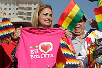 SÃO PAULO, 04 DE AGOSTO 2012 - CAMPANHA CELSO RUSSOMANO.A candidata a vereadora Nani Venancio, participa da Festa do Povo Boliviano, no Memorial da América Latina, nesse sábado, 04 - FOTO LOLA OLIVEIRA - BRAZIL PHOTO PRESS