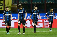 delusione Inter - dejection.Milano 17/04/2013 Stadio San Siro Giuseppe Meazza .Football Calcio Coppa Italia Semifinale .Inter Roma 2-3 .foto Daniele Buffa/Image Sport/Insidefoto.