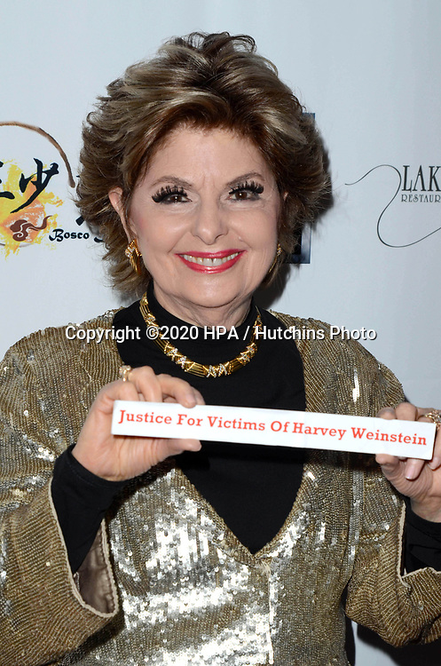 LOS ANGELES - FEB 9:  Gloria Allred at the 5th Annual Roger Neal & Maryanne Lai Oscar Viewing Dinner at the Hollywood Museum on February 9, 2020 in Los Angeles, CA