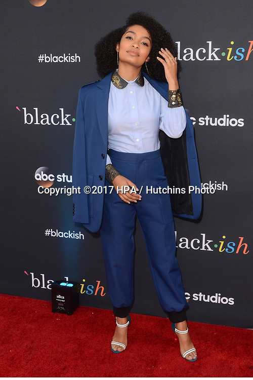 "LOS ANGELES - APR 12:  Yara Shahidi at the ""Blackish"" FYC Event at the Television Academy, on April 12, 2017 in North Hollywood, CA"