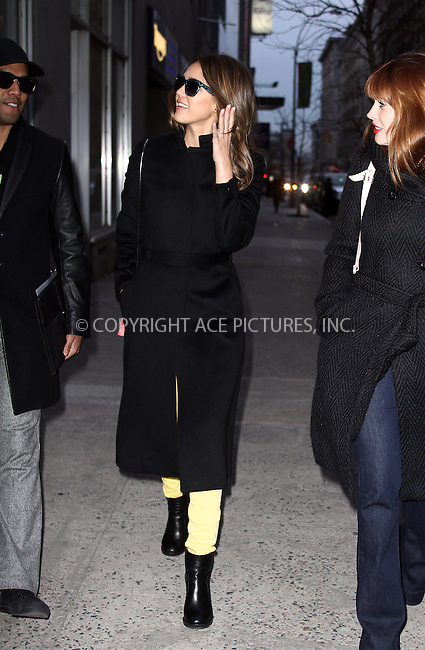 WWW.ACEPIXS.COM . . . . .  ....February 14 2012, New York City....Actress Jessica Alba went for a manicure and a massage with a friend before returning to her hotel on February 14 2012 in New York City....Please byline: CURTIS MEANS - ACE PICTURES.... *** ***..Ace Pictures, Inc:  ..Philip Vaughan (212) 243-8787 or (646) 769 0430..e-mail: info@acepixs.com..web: http://www.acepixs.com