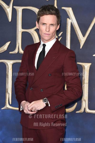 "LONDON, UK. November 13, 2018: Eddie Redmayne at the ""Fantastic Beasts: The Crimes of Grindelwald"" premiere, Leicester Square, London.<br /> Picture: Steve Vas/Featureflash"
