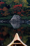 Canoe on Attean Pond near Jackman, Maine, USA