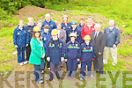 Linda O'Mahony Chairperson and the Kerry All Stars in their new site at Dereen Killarney on Thursday where they will build their headquarters Tim O'Sullivan, Breda Healy, Magella  O'Sullivan. Back l-r: Leila McCann, Breda O'Sullivan, Joan O'Sullivan, Kathleen McCarthy, Cllr: Sheila Casey, Oisin O'Mahony, Joan O'Connor, Emer Corridan, Cllr Niall O'Callaghan, Tom Tobin, Niall O'Connor, John Hickey