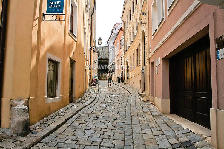 Street in Old Town, Bratislava.