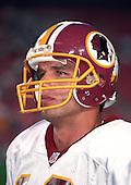 Washington Redskins quarterback Trent Green (10) warms-up prior to the game against the San Francisco 49ers at Jack Kent Cooke Stadium in Raljon, Maryland on September 14, 1998.  It was Green's first NFL start.  He completed 14 of 25 passes for 201 yards in his team's 45 - 10 loss.<br /> Credit: Arnie Sachs / CNP