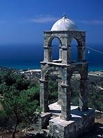 Griechenland, Dodekanes, Kos, Kefalos: alleinstehender Glockenturm der Kirche Agios Ioannis | Greece, Dodekanes, Kos, Kefalos: bell tower of church Agios Ioannis