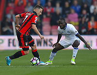 Chelsea's Victor Moses (R) battles with Bournemouth's Marc Pugh (L)<br /> Bournemouth 1 - Chelsea 3<br /> <br /> Photographer David Horton/CameraSport<br /> <br /> The Premier League - Bournemouth v Chelsea - Saturday 8th April 2017 - Vitality Stadium - Bournemouth<br /> <br /> World Copyright &copy; 2017 CameraSport. All rights reserved. 43 Linden Ave. Countesthorpe. Leicester. England. LE8 5PG - Tel: +44 (0) 116 277 4147 - admin@camerasport.com - www.camerasport.com