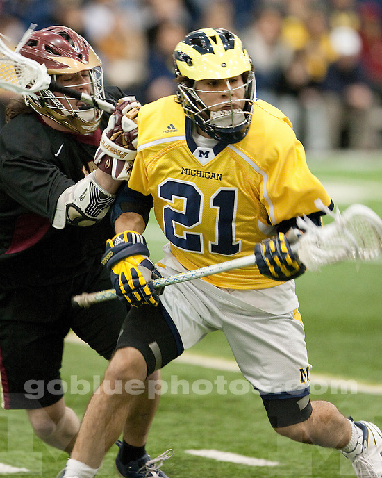 University of Michigan men's lacrosse 14-7 victory over Boston College at Oosterbaan Fieldhouse in Ann Arbor, MI, on March 25, 2011