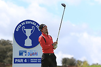 Christofer Blomstrand (SWE) on the 11th tee during Round 2 of the Open de Espana 2018 at Centro Nacional de Golf on Friday 13th April 2018.<br /> Picture:  Thos Caffrey / www.golffile.ie<br /> <br /> All photo usage must carry mandatory copyright credit (&copy; Golffile | Thos Caffrey)