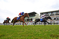 Winner of The Peter Symonds Catering Claiming Stakes       Oofy Prosser (pink) ridden by Mitch Godwin and trained by Harry Dunlop during Afternoon Racing at Salisbury Racecourse on 16th May 2019