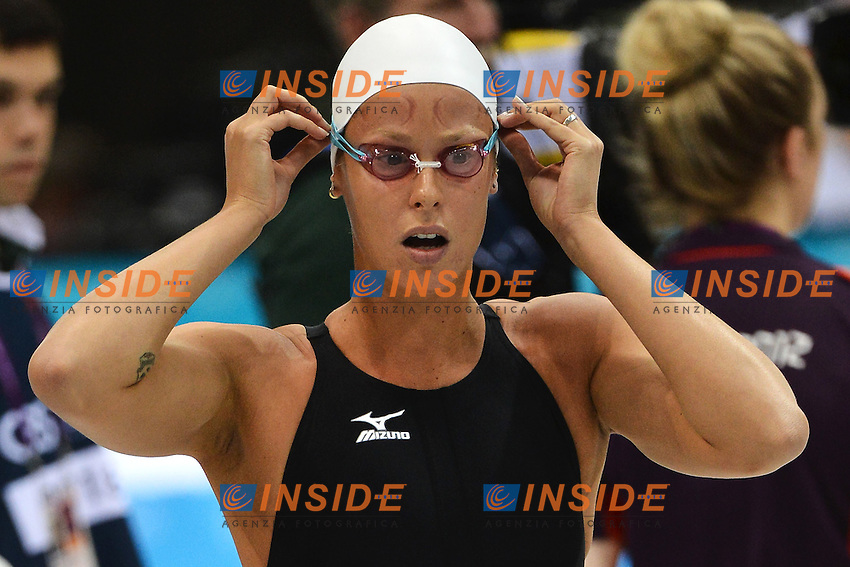 Federica Pellegrini Italy Women's 4x200m Freestyle Relay.London 1/8/2012 Aquatics Center.London 2012 Olympic games - Olimpiadi Londra 2012.Swimming Nuoto.Foto Andrea Staccioli Insidefoto