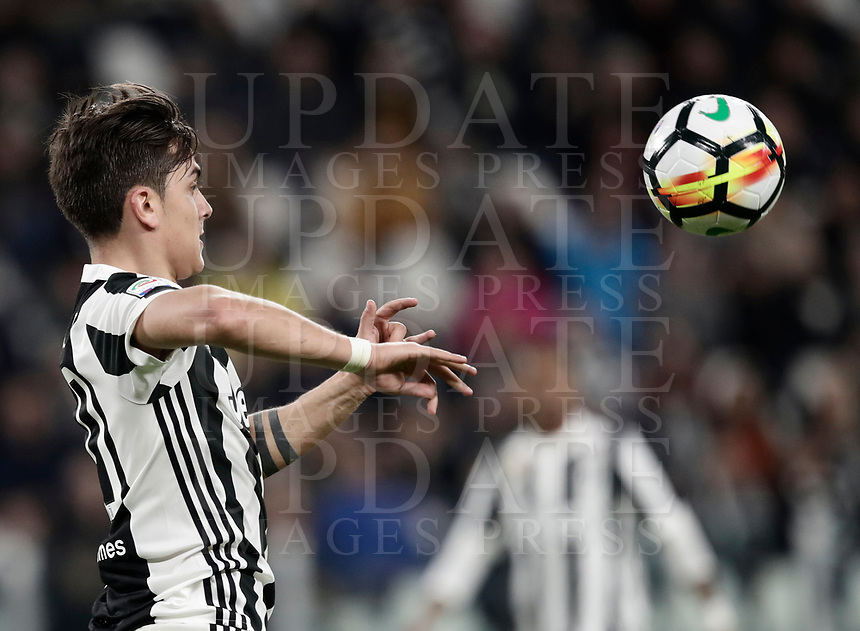 Calcio, Serie A: Juventus - Atalanta, Torino, Allianz Stadium, 14 marzo 2018. <br /> Juventus' Paulo Dybala in action during the Italian Serie A football match between Juventus and Atalanta at Torino's Allianz stadium, March 14, 2018.<br /> UPDATE IMAGES PRESS/Isabella Bonotto