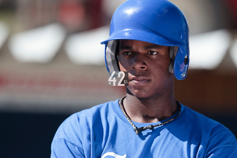 20 july 2010: Omar Williams of Team France listens to John Haar during a practice prior to the 2010 European Championship Seniors, in Neuenburg, Germany.