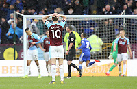 Burnley's Ashley Barnes looks dejected after Leicester City's Wes Morgan scored his side's second goal <br /> <br /> Photographer Rich Linley/CameraSport<br /> <br /> The Premier League - Burnley v Leicester City - Saturday 16th March 2019 - Turf Moor - Burnley<br /> <br /> World Copyright © 2019 CameraSport. All rights reserved. 43 Linden Ave. Countesthorpe. Leicester. England. LE8 5PG - Tel: +44 (0) 116 277 4147 - admin@camerasport.com - www.camerasport.com