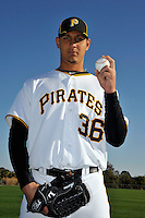 Feb 28, 2010; Bradenton, FL, USA; Pittsburgh Pirates  pitcher Wil Ledezma (36) during  photoday at Pirate City. Mandatory Credit: Tomasso De Rosa/ Four Seam Images