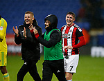 John Lundstram of Sheffield Utd smiles despite hitting the cross bar during the Championship match at the Macron Stadium, Bolton. Picture date 12th September 2017. Picture credit should read: Simon Bellis/Sportimage