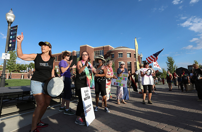 A photograph taken during the Black Lives March Against Hate at the Joe Crowley Student Union on the University of Nevada campus in Reno, Nevada on Sunday, August 27, 2017.