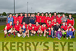 The Glenbeigh/Glencar team celebrate after defeating Keel in the Mid Kerry league final in O'Sullivan park Killorglin on Saturday evening