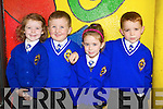 Junior infants at CBS Primary Tralee, from left are Ciara Drummey, Kodi Quirke Shine, Amy Scanlon and Cian Collins..