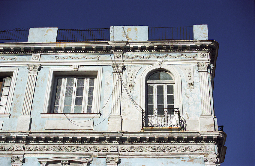 Colonial architecture of the Napoleonic era, building details, Havana, Cuba.