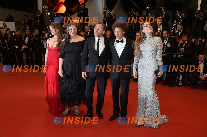 Tim Roth - Michel Franco - Sarah Sutherland <br /> Festival del Cinema di Cannes 2015<br /> Foto Panoramic / Insidefoto