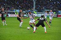 VOETBAL: HEERENVEEN: Abe Lenstra Stadion, SC Heerenveen - Vitesse, 21-01-2012, Guram Kashia (#37), Luciano Narsingh (#24), Michihiro Yasuda (#16), Eindstand 1-1, ©foto Martin de Jong