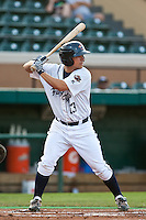Brent Wyatt (13) of the Lakeland Flying Tigers during a game vs. the Charlotte Stone Crabs May 11 2010 at Joker Marchant Stadium in Lakeland, Florida. Charlotte won the game against Lakeland by the score of 3-0.  Photo By Scott Jontes/Four Seam Images