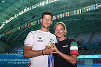 Matteo Giunta, PELLEGRINI Federica ITA Italy Gold Medal <br /> Women's 200m Freestyle <br /> Gwangju South Korea 24/07/2019<br /> Swimming <br /> 18th FINA World Aquatics Championships<br /> Nambu University Aquatics Center <br /> Photo © Andrea Staccioli / Deepbluemedia / Insidefoto <br /> <br /> E' Vietato l'utilizzo per scopi commerciali esclusi gli usi autorizzati dalla Federazione Italiana Nuoto .<br /> Editorial Use only . Other Use must be authorized byy the author or by Federazione Italiana Nuoto .