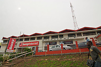 Once the world's largest internet cafe, Busy Internet - open 24 hours a day, on the Ring Road close to Nkrumah Circle, Accra.