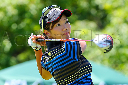 11.07.2015. Lancaster, PA, USA.    Rumi Yoshiba of Japan tees off at the par 4 1st hole during the third round of the 2015 U.S. Womens Open played at Lancaster Country Club in Lancaster Pennsylvania.